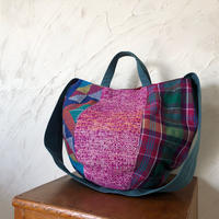 フィリピン伝統織物と日本の「さをり織り」のボニーバッグLサイズ