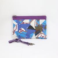 094|cut 布のかけらを集めたポーチ(Thailand)