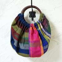 フィリピン手織り布のグラニーバッグ(A)
