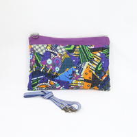 078|cut 布のかけらを集めたポーチ(Kenya)