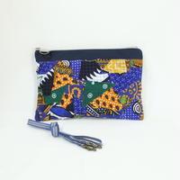 006|cut 布のかけらを集めたポーチ(Kenya)