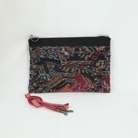 023|cut 布のかけらを集めたポーチ(Indonesia)