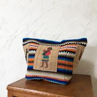 289|  メキシコ手織り古布・ナガ族刺繍(ミャンマー)トート