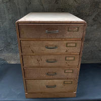 Japan Vintage 小引き出し 5段 木製 アンティーク レトロ チェスト