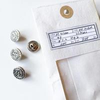 Vintage button/ヴィンテージボタン MSV061/Metal Silver/4pcs set