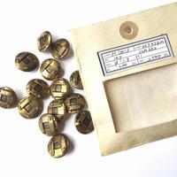 Vintage button/ヴィンテージボタン MGD027/Metal Gold/14pcs set
