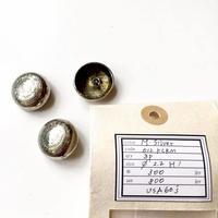 Vintage button/ヴィンテージボタン MSV012/Metal Silver/3pcs set