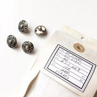 Vintage button/ヴィンテージボタン MSV013/Metal Silver/4pcs set