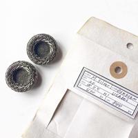 Vintage button/ヴィンテージボタン MSV034/Metal Silver/2pcs set