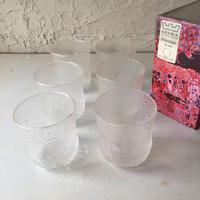 ARABIA FINLANDアラビア NUUTAJARVI ヌータヤルヴィFauna(クリア) タンブラー グラス箱入り 6個セット