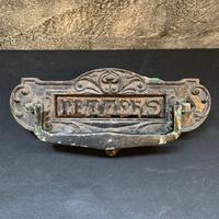England Antique イギリス アンティーク ドアノブ レターポスト ハンドル ノブ アイアン