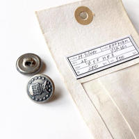 Vintage button/ヴィンテージボタン MSV070/Metal Silver/2pcs set