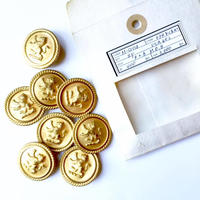 Vintage button/ヴィンテージボタン MGD034/Metal Gold/8pcs set