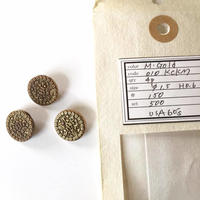 Vintage button/ヴィンテージボタン MGD010/Metal Gold/3pcs set