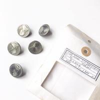 Vintage button/ヴィンテージボタン MSV080/Metal Silver/5pcs set