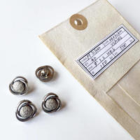 Vintage button/ヴィンテージボタン MSV062/Metal Silver/4pcs set