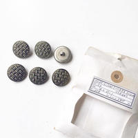Vintage button/ヴィンテージボタン MSV053/Metal Silver/6pcs set