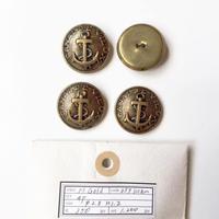 Vintage button/ヴィンテージボタン MGD039/Metal Gold/4pcs set