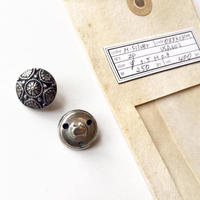 Vintage button/ヴィンテージボタン MSV077/Metal Silver/2pcs set