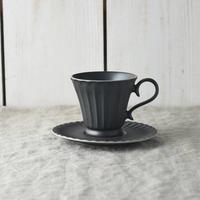 【美濃焼】カップ&ソーサー ブラック