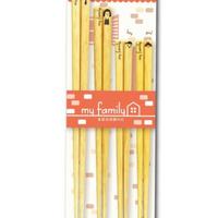 【日本製】箸 ファミリー4膳セット