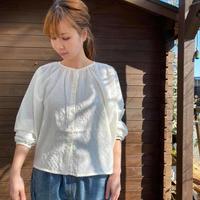 Modal Cotton Gather Blouse /nachukara'20ss/79527