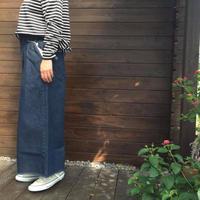 カットオフデザイン★タック入りデニムパンツ/ Fillil/5102