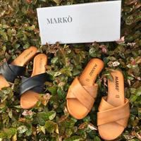 MARKO クロスレザーサンダル /225005
