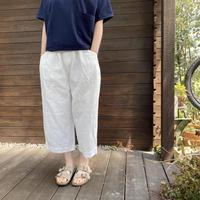 Cotton Linen Denim Tuck Pants /nachukara'20ss/82115