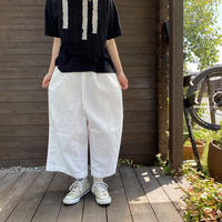 Cotton Linen Denim Wide Pants/nachukara'20ss/92511