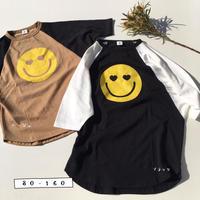 ラグラン袖スマイルBIG Tシャツ/jiensb 2nd/800225