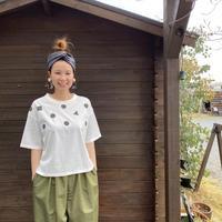Silkete マルさんかくTシャツ/Mao made/021214