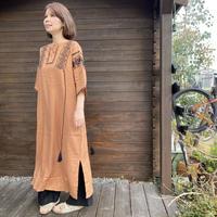 タッセル付刺繍ワンピース/MERLOT /2812