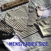 バスク生地 ボートネックボーダー長袖Tシャツ(メンズ&レディース)/OMNES/1519-5032