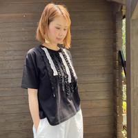Cotton Design Frill T-shirt/nachukara'20ss/98570