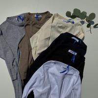 ストレッチフライスジャガード クルーネック六分袖Tシャツ / OMNES '定番/5018