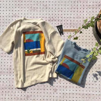 Jr.WAFFLE PRINT T(150/160)/Ocean&Ground'19SS/1916151