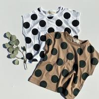 ワイド ドット Tシャツ/marble mix mart'20SS/P21407