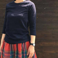 フライスクルーネック六分袖Tシャツ/OMNES'19SS/OMNES/1518-5018