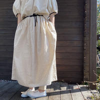 リネン&コットンギャザースカート/LUEUF'20/311117