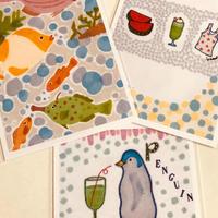 ポストカード3枚セット(海のお魚たち、夏のごあいさつ、ペンギンの赤ちゃん)