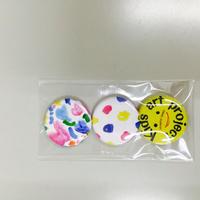 お茶高×キッズアートコラボ ミニ缶バッジセットA