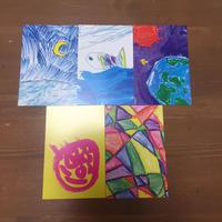 お茶高×キッズアートコラボ ポストカード5枚セット