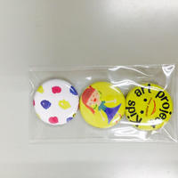 お茶高×キッズアートコラボ ミニ缶バッジセットC