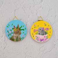 Tiny Wood Art ミニウッドアート Summer of Rabbits