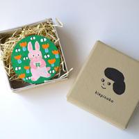 Tiny Art with box. ミニウッドオーナメントアート