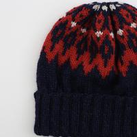 ノルディックパターンの編み込み帽(daruma) kit