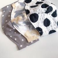 【mask】cotton gauze/ dots•paint•big dots
