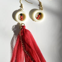 China red fringe (hook pierce)