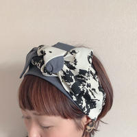 ribbon turban / MADARA × T-shirt